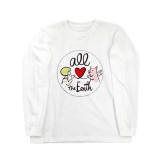 オール世界/ブタさん Long sleeve T-shirts