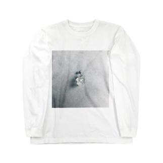 クリアボールズピアス Long sleeve T-shirts