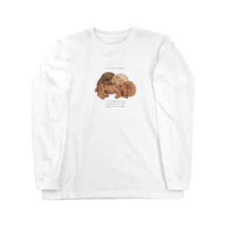 🐩puppy toypoodle Long sleeve T-shirts
