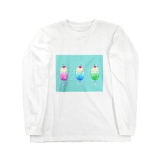 シュワっとさわやかクリームソーダ Long sleeve T-shirts