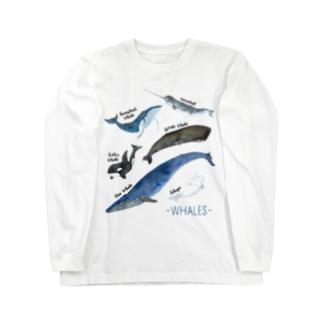 クジラまみれ Long sleeve T-shirts