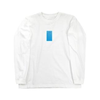 青い付箋 Long sleeve T-shirts