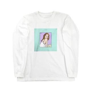 寝起き Long sleeve T-shirts
