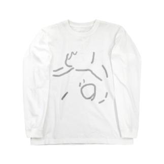 うどん画 Long sleeve T-shirts