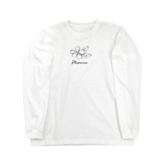 プルメリア Long sleeve T-shirts