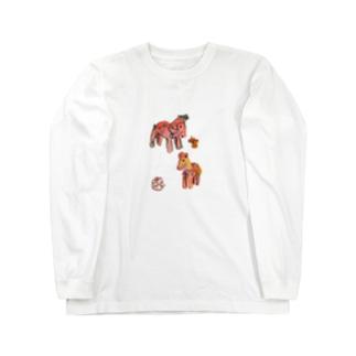 馬の埴輪 Long sleeve T-shirts