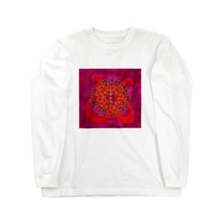 フトマニ・ウ(ヲシテ文字) Long sleeve T-shirts