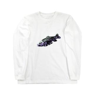魚の骨 Long sleeve T-shirts