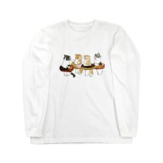 ドーナッツにゃん Long sleeve T-shirts