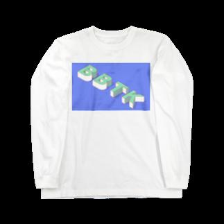 BBTKのblock Long sleeve T-shirts