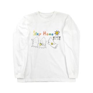 STAY HOME モンゴイカ Long sleeve T-shirts
