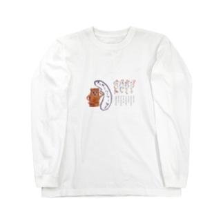 はにわちゃんのアワウタ Long sleeve T-shirts
