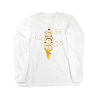 チャリティグッズ*ピノちゃん、クッキーちゃん、モカちゃん Long sleeve T-shirts