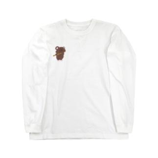 ワンポイント ふるぐま Long sleeve T-shirts