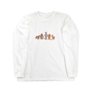 ハニワちゃんと土偶ちゃん Long sleeve T-shirts