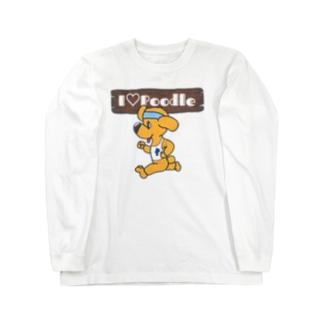 I Love Poodle(ランニングプードル) Long sleeve T-shirts