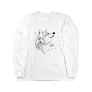 スカシユリ Long sleeve T-shirts