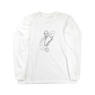 kuniiyosukeのJAZZ. John Coltrane Long sleeve T-shirts