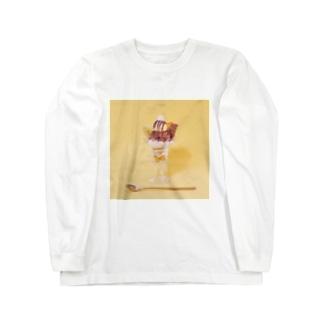 チョコバナナパフェなアイテム Long sleeve T-shirts