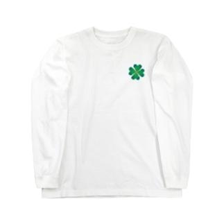 wamiの四葉のクローバー Long sleeve T-shirts