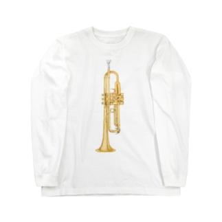 toshimaruのトランペット Long sleeve T-shirts