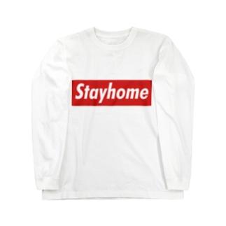 Stayhome BOXロゴシリーズ Long sleeve T-shirts