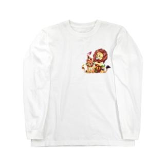 *えいぷりる どぎぃ工房*の親子ライオン Long Sleeve T-Shirt
