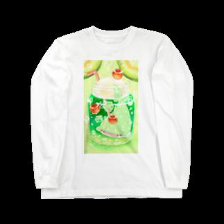 鈴のメロンソーダじんべえざめの小瓶 Long sleeve T-shirts