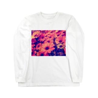 水滴つややくお花 Long sleeve T-shirts