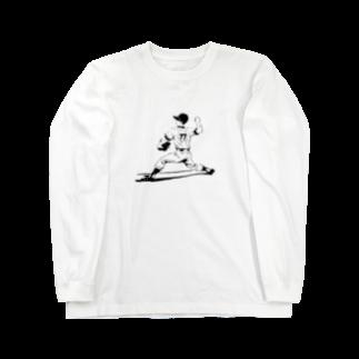 momo_ancoroの野球少年しんくん Long sleeve T-shirts