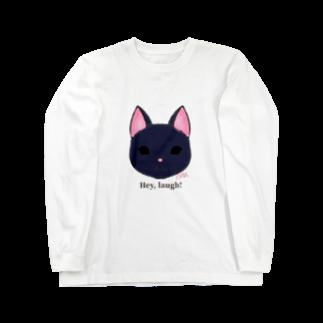 enu. のHey, laugh!(黒猫) Long sleeve T-shirts