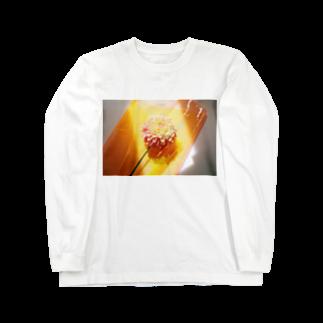 ぱんだぽんの陽を浴びるダリア Long sleeve T-shirts
