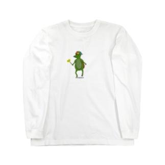 わかガッパっぱ たんぽぽ摘みました Long sleeve T-shirts