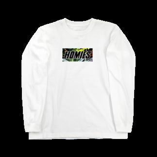 BASSHOMIESのBASSHOMIESブラックバス柄 Long sleeve T-shirts