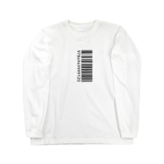 ITANJIのバーコード Long sleeve T-shirts