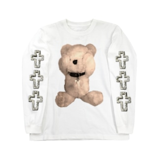 Peek-a-boo Teddy sepia Long sleeve T-shirts
