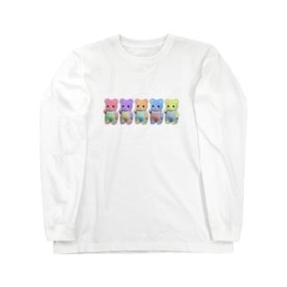 クインテットくまちゃん Long sleeve T-shirts