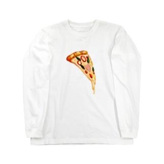 ピッツァ Long sleeve T-shirts