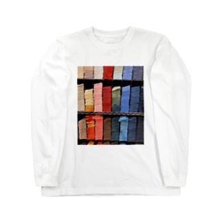 積んで詰んでツム Long sleeve T-shirts