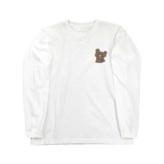 サカナ食ってるクマ Long sleeve T-shirts
