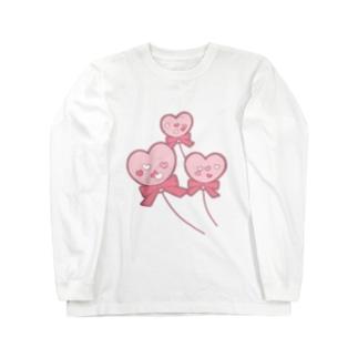 ハートの風船 Long sleeve T-shirts