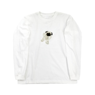 リアルなパグ Long sleeve T-shirts