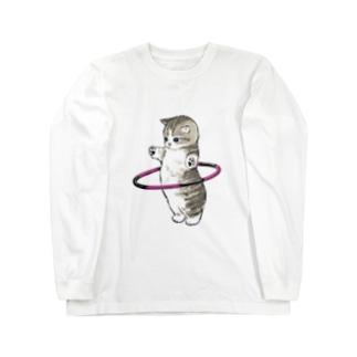 フラフープにゃん Long sleeve T-shirts