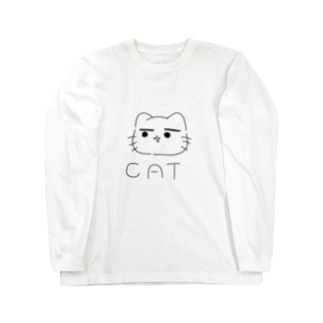 まゆ猫。きっず Long sleeve T-shirts