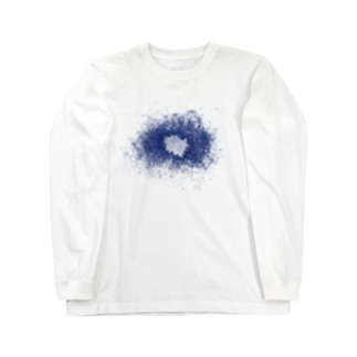スネア打痕 BLUE Long sleeve T-shirts