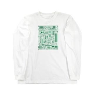 基盤柄 Long sleeve T-shirts
