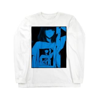 portrait of past ver.Blue Long sleeve T-shirts
