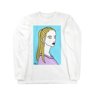ポニーテール Long sleeve T-shirts
