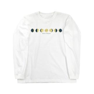 月の満ち欠け Long sleeve T-shirts