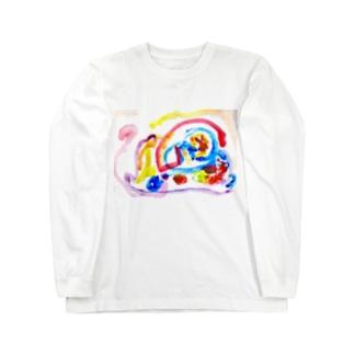 息子くんイラスト Long sleeve T-shirts